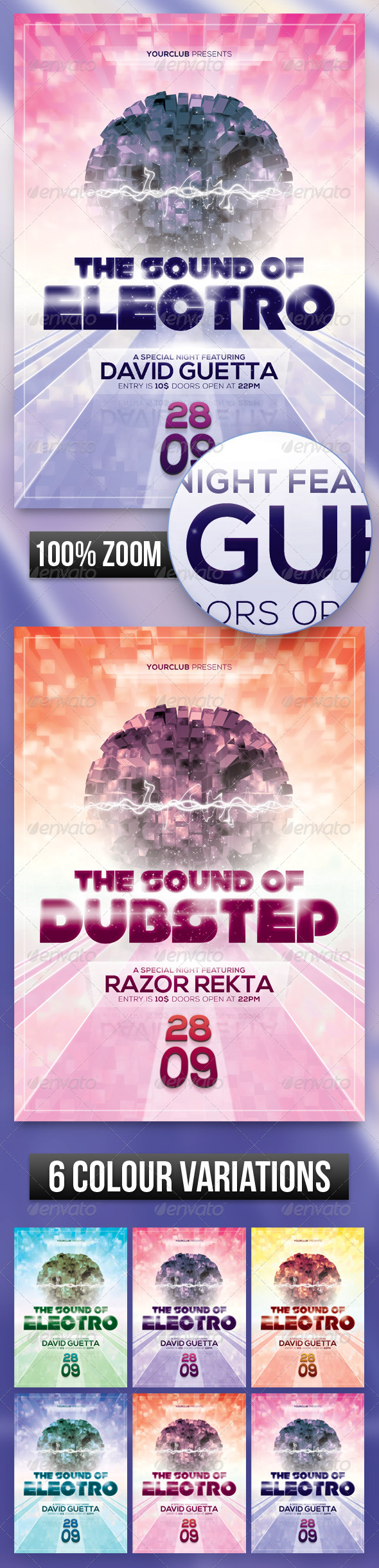 GraphicRiver A4 Electro Dubstep Club Poster Flyer 5482832