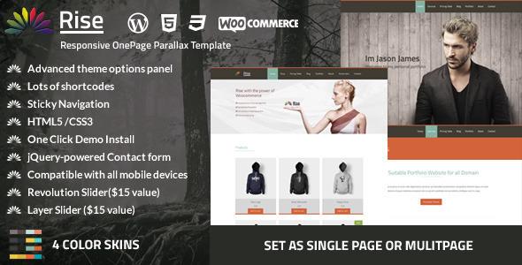 Rise | Onepage Responsive Parallax Theme - Portfolio Creative