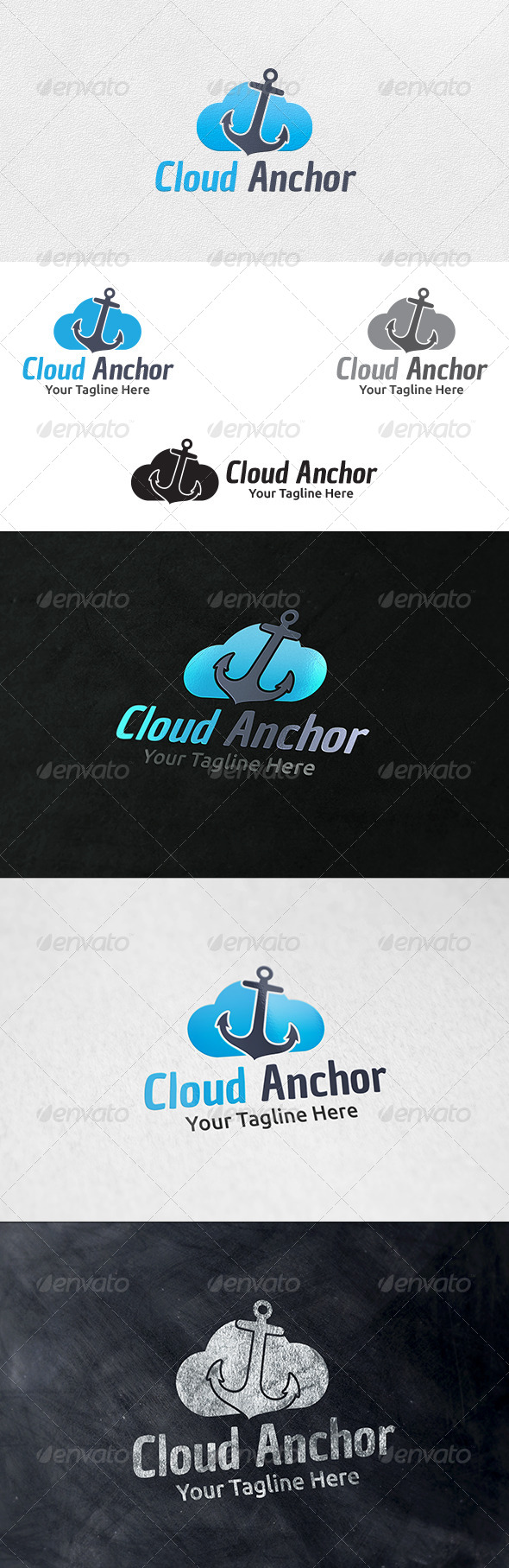 GraphicRiver Cloud Anchor Logo Template 6331496