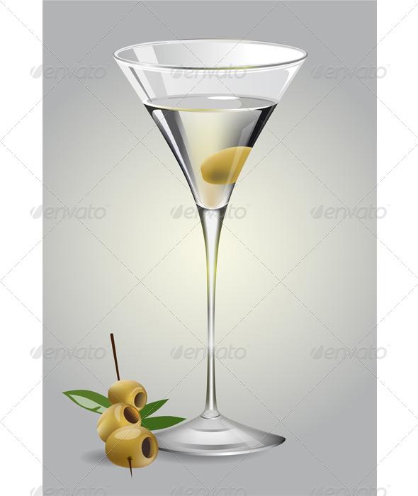 GraphicRiver Glass of Martini 6331499