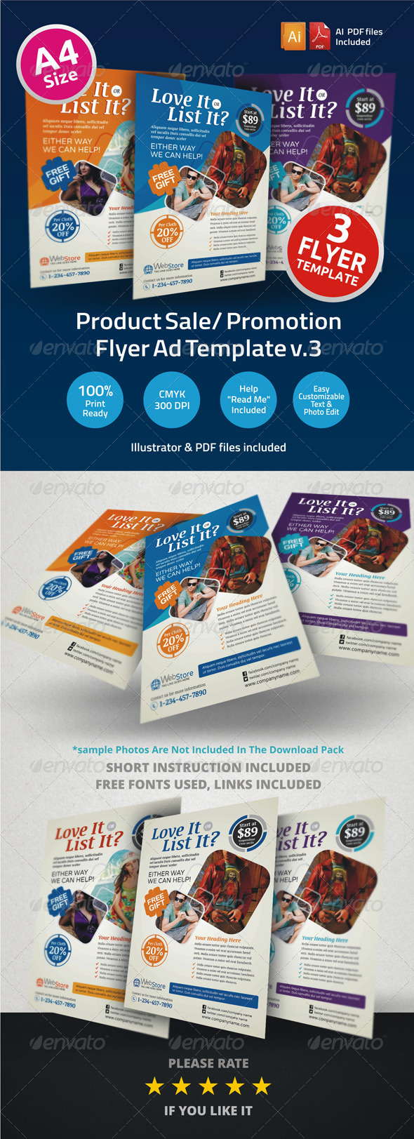 GraphicRiver Product Sale Promotion Flyer Ad Template v3 6331503