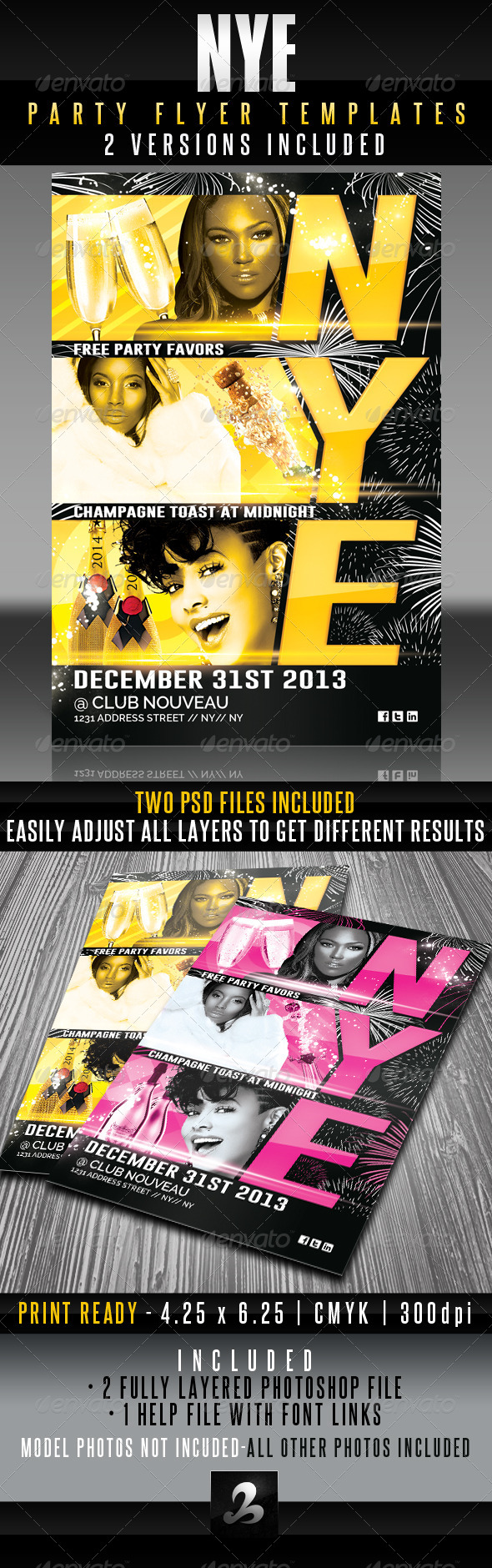 GraphicRiver NYE Party Flyer Templates 6331600