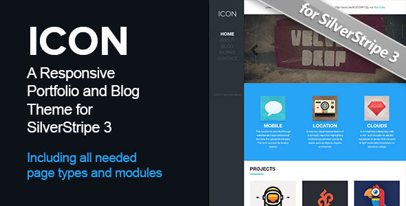 Icon - Theme with Page types for SilverStripe 3 - Miscellaneous CMS Themes