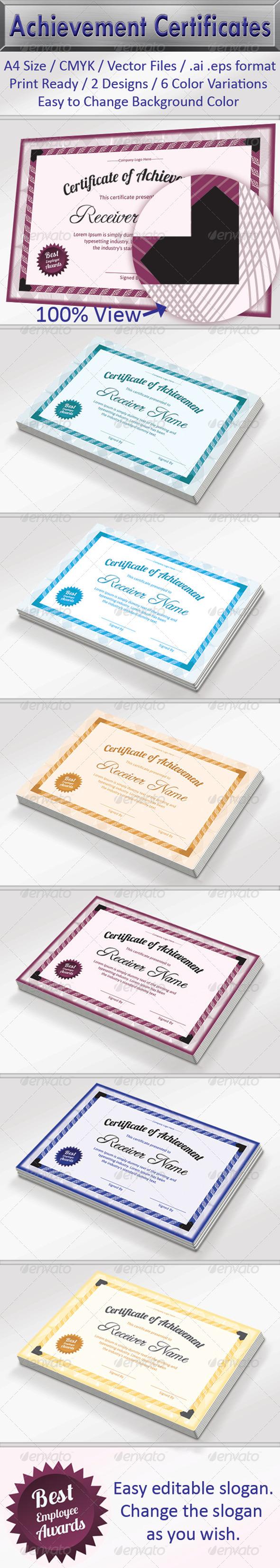 GraphicRiver Achievement Certificate Pack 6299284