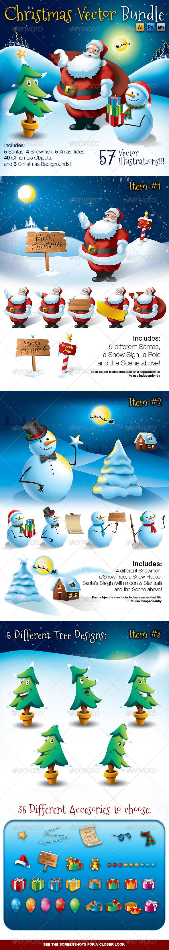 GraphicRiver Christmas Vector Bundle 6330638