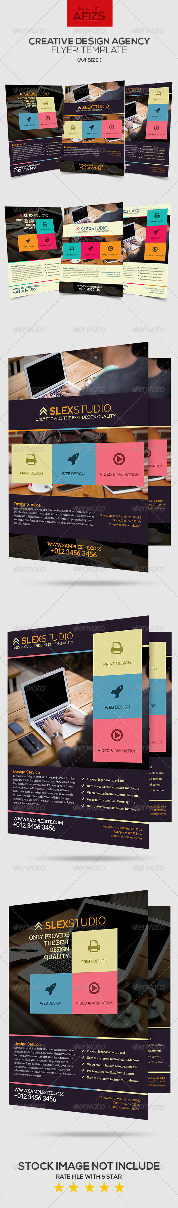GraphicRiver Creative Design Agency Flyer 6331925
