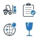 Logistics Icons - Blue Series - GraphicRiver Item for Sale