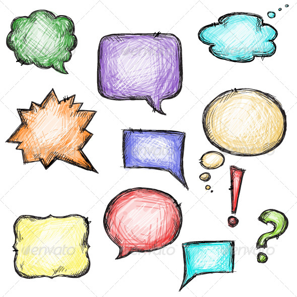 GraphicRiver Set of Colorful Speech Bubbles 6332240