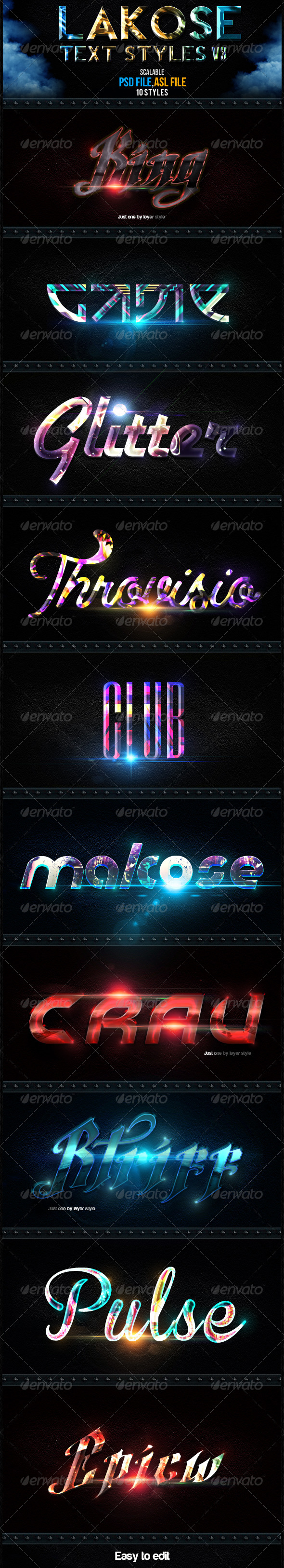 GraphicRiver Lakose Text Styles V3 6332244