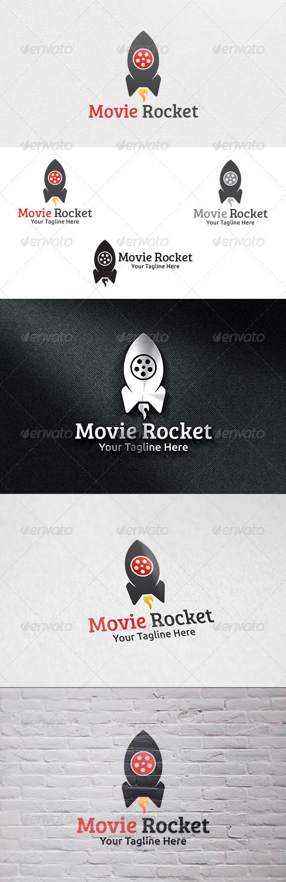 GraphicRiver Movie Rocket Logo Template 6332344