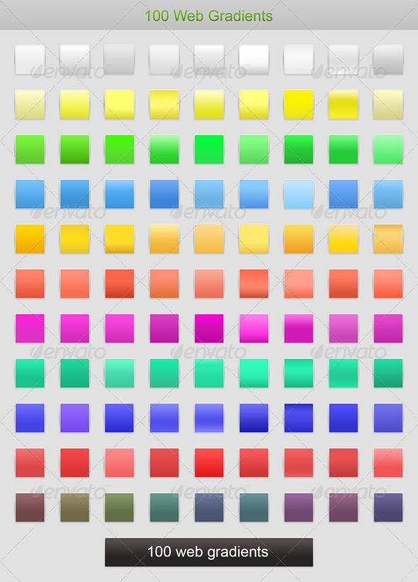 GraphicRiver 100 Web Gradients 6332367