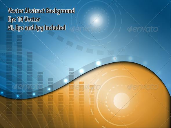GraphicRiver Techno Background 6332426
