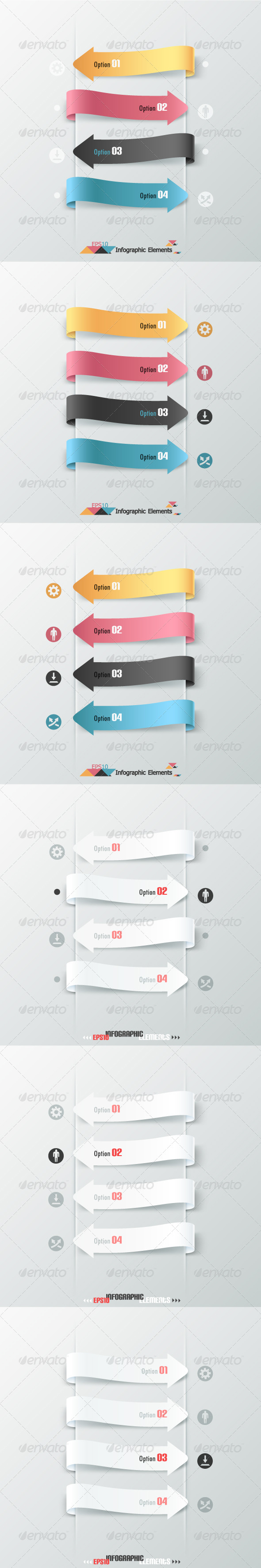 GraphicRiver Set Of Six Infographic Banners With Arrows 6332545
