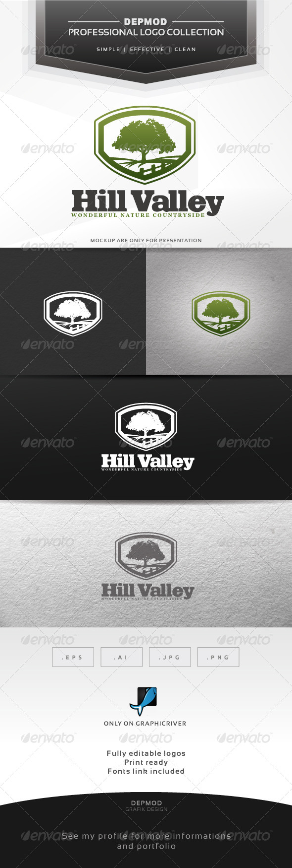 GraphicRiver Hill Valley Logo 6332576