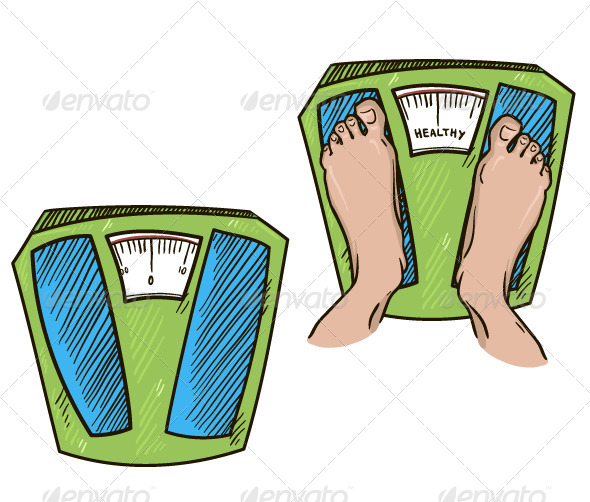 GraphicRiver Feet on Weight Scales 6332607