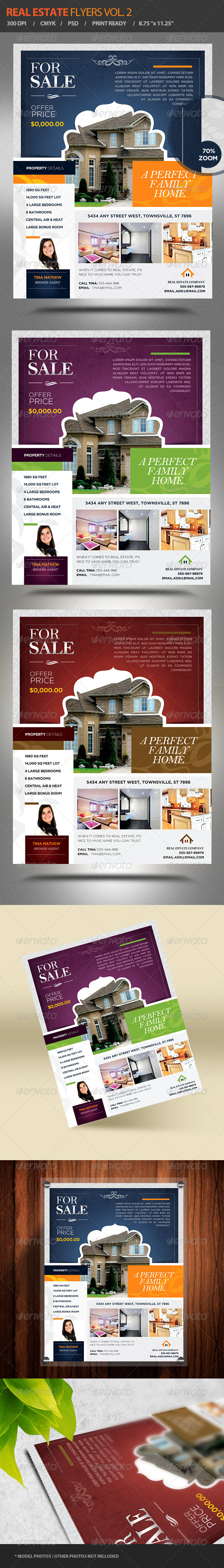 Real Estate Flyers Vol. 2 - Flyers Print Templates