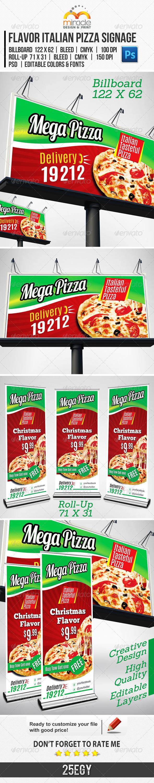 GraphicRiver Flavor Italian Pizza Signage 6332727