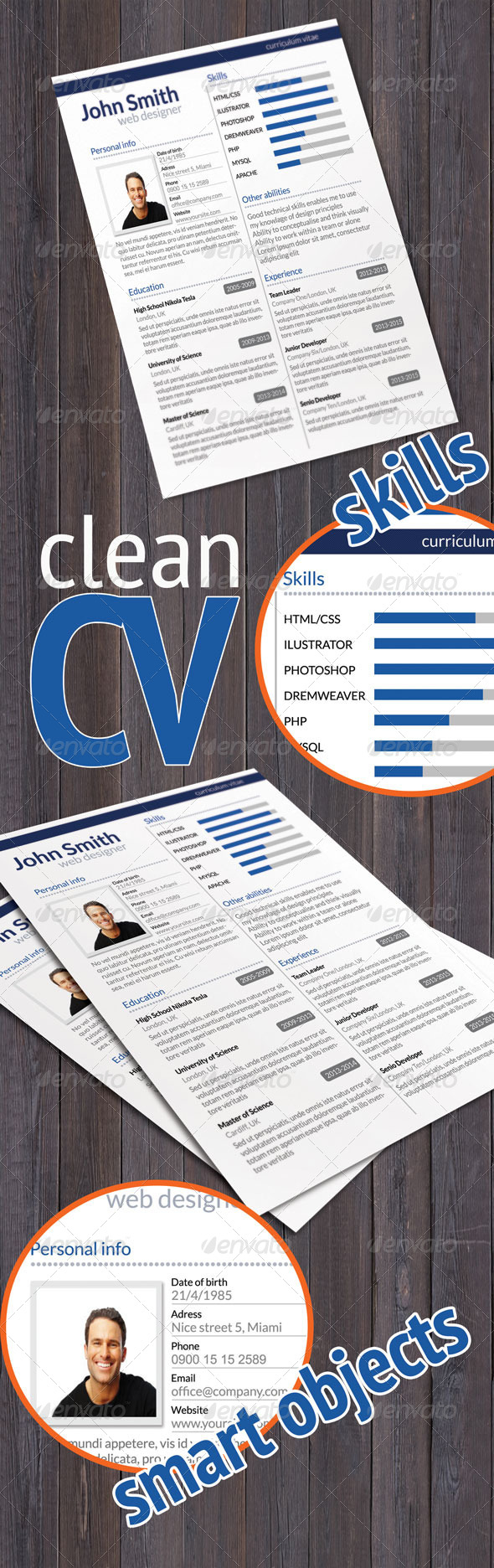 GraphicRiver Clean CV 6331080