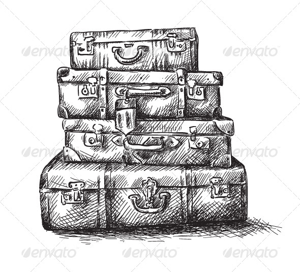 GraphicRiver Drawing of Luggage Bags 6332750