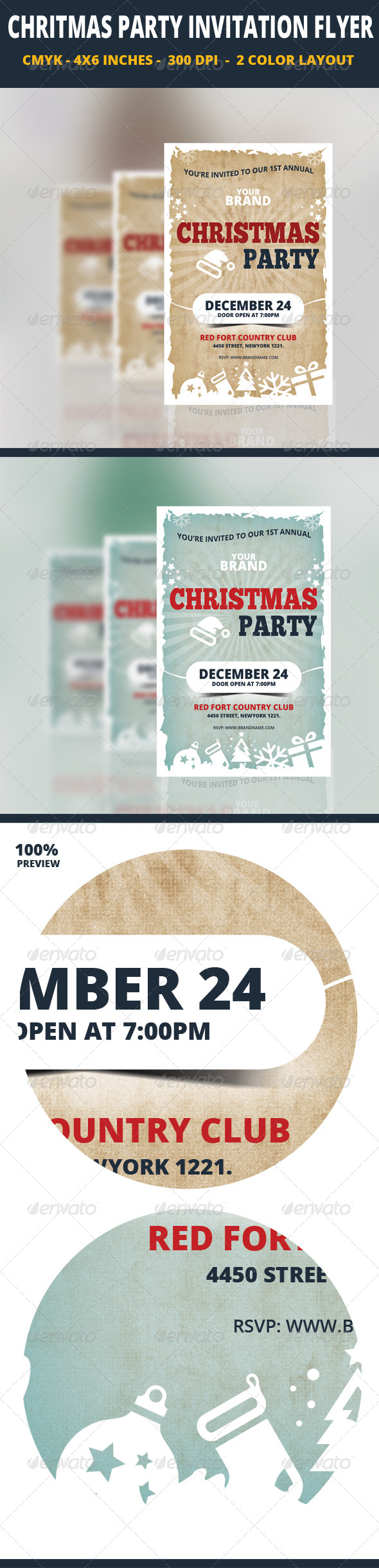 GraphicRiver Christmas Party Invitation Flyer Template 6332787