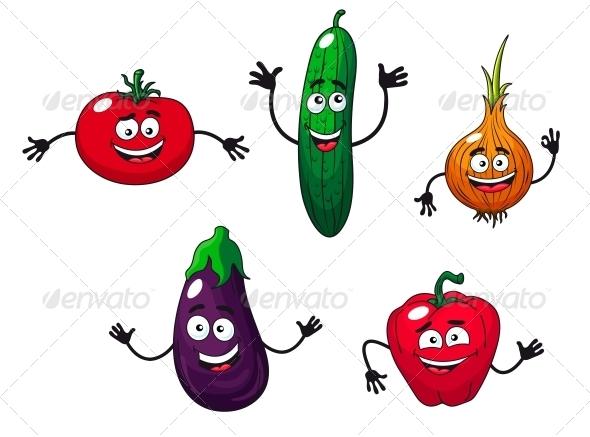 GraphicRiver Cucumber Pepper Onion Eggplant and Tomato 6332936