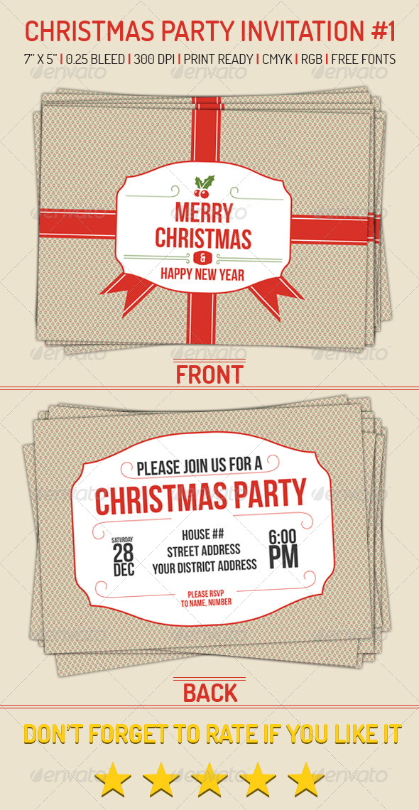 GraphicRiver Christmas Party Invitation 1 6296650