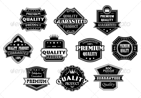 GraphicRiver Labels Set in Vintage Western Style 6333167