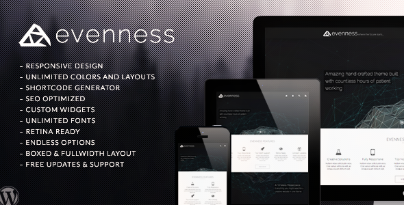 ThemeForest Evenness Responsive Multi-Purpose Theme 6237898