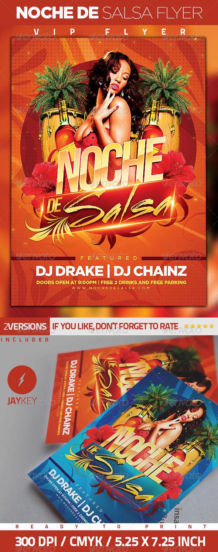 GraphicRiver Noche de Salsa Party Flyer 6333288