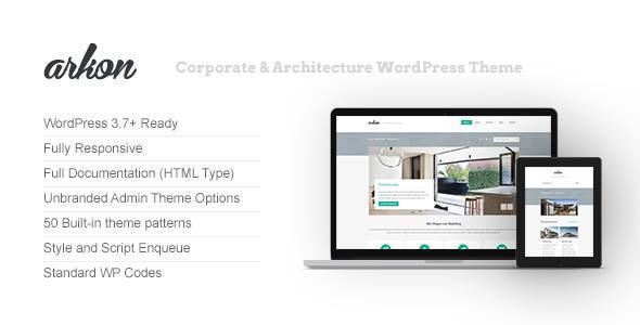 Arkon - Corporate & Architecture WordPress Theme
