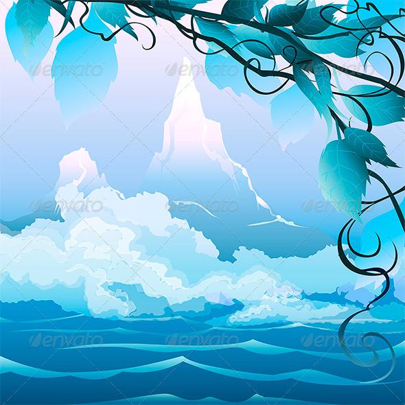GraphicRiver River Landscape 6333339