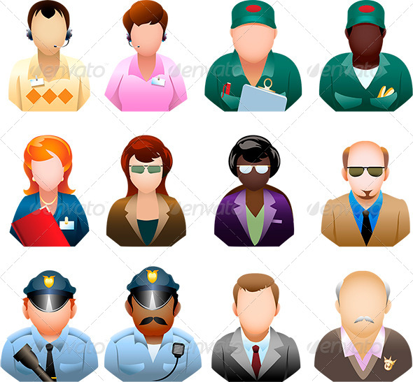 GraphicRiver Corporation People Icon Set 6333377
