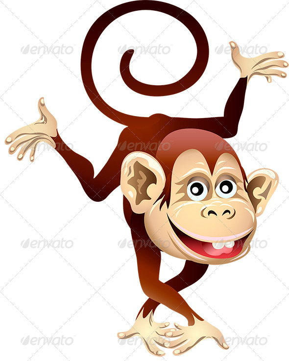 GraphicRiver Cheerful Monkey 6333383