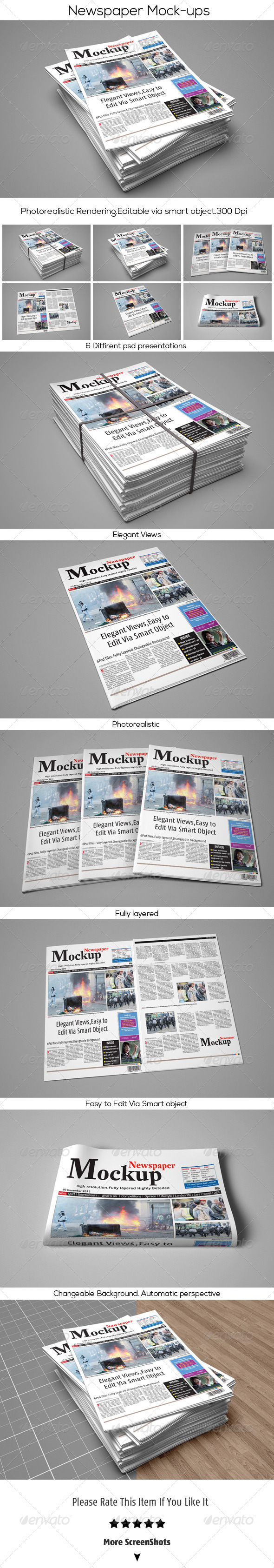 GraphicRiver Newspaper Mock-Up 6333399