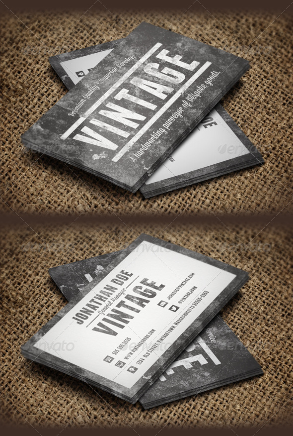 Grunge Business Card Templates & Designs from GraphicRiver