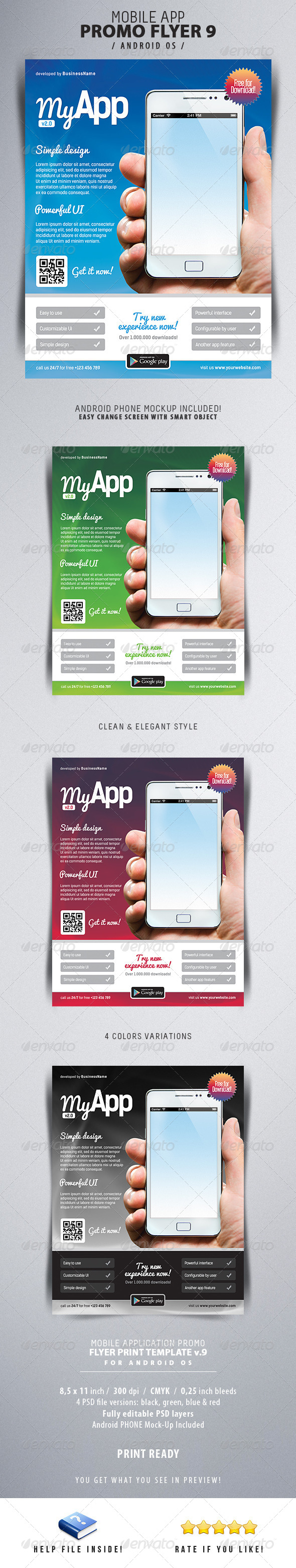 GraphicRiver Mobile App Flyers 9 6333726