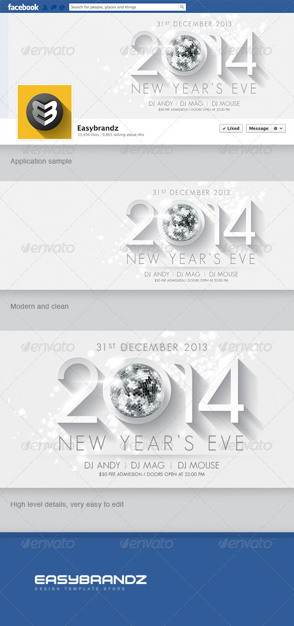 GraphicRiver 2014 New Year s Facebook Timeline 6333730