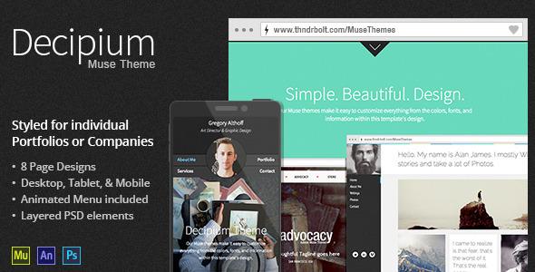 Decipium Portfolio & Company Muse Theme