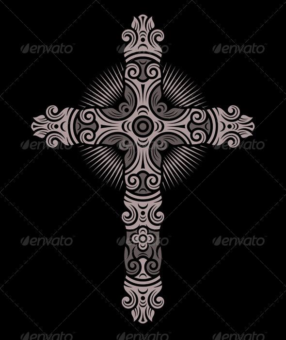 Antique Cross Ornament