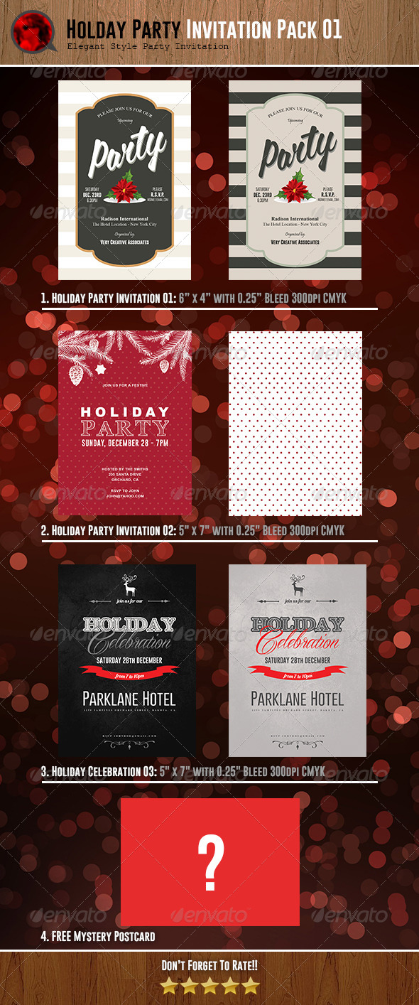 GraphicRiver Holiday Party Invitations Bundle 01 6334245