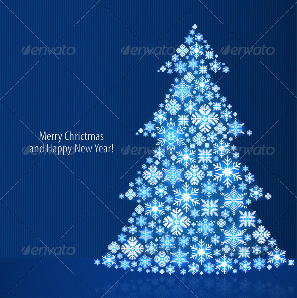 GraphicRiver Christmas Background with Christmas Tree 6334957