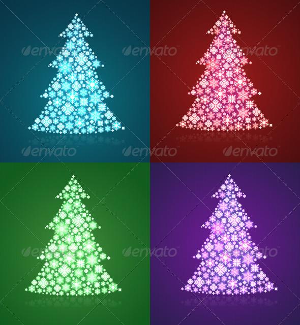 GraphicRiver Christmas Trees 6335016