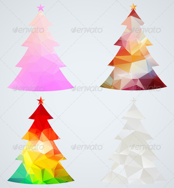 GraphicRiver Set of Christmas Trees 6335031