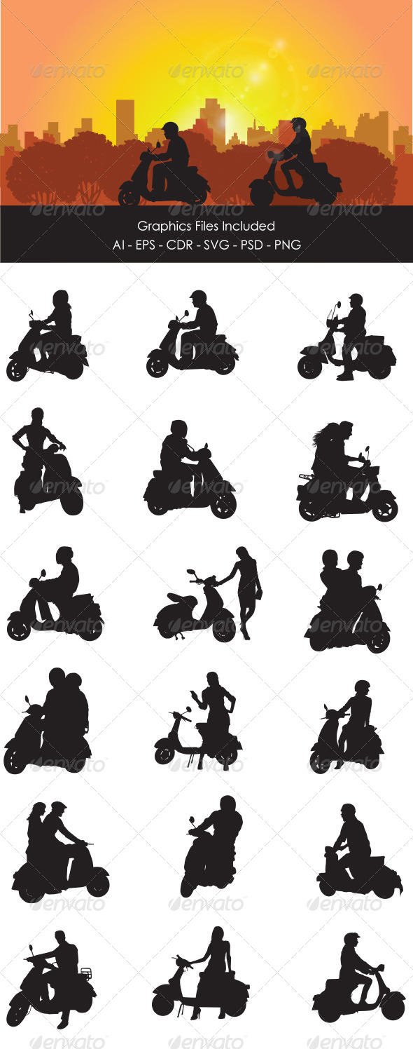 GraphicRiver Scooter Rider 6335077
