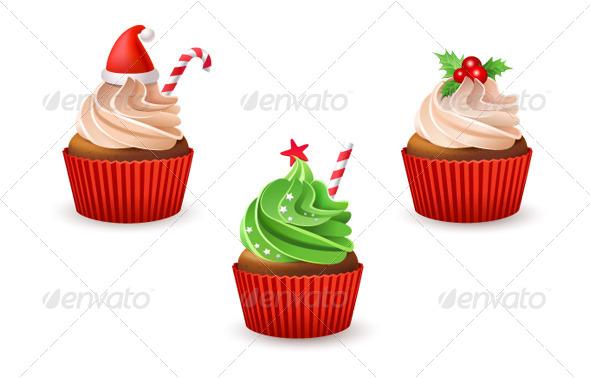 GraphicRiver Christmas Cupcakes 6335078