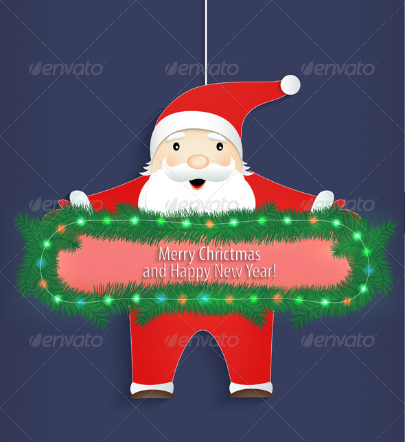 GraphicRiver Santa Claus with a Congratulation 6335093