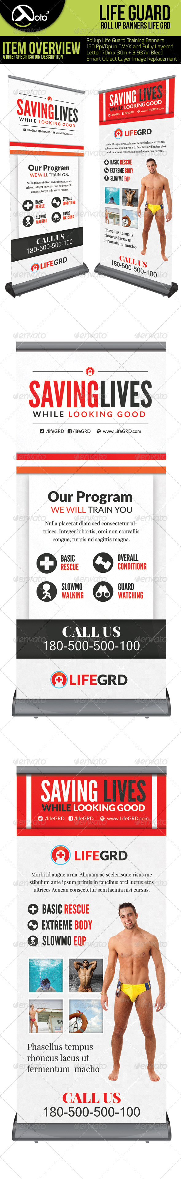 GraphicRiver Life Guard Trainning Roll Up Banner 6335267