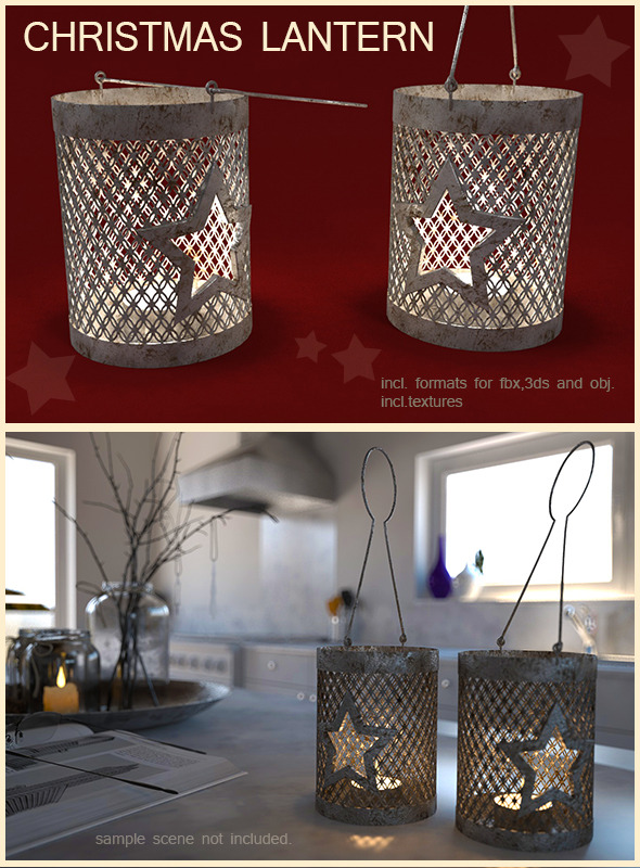 3DOcean Christmas lantern 6335434