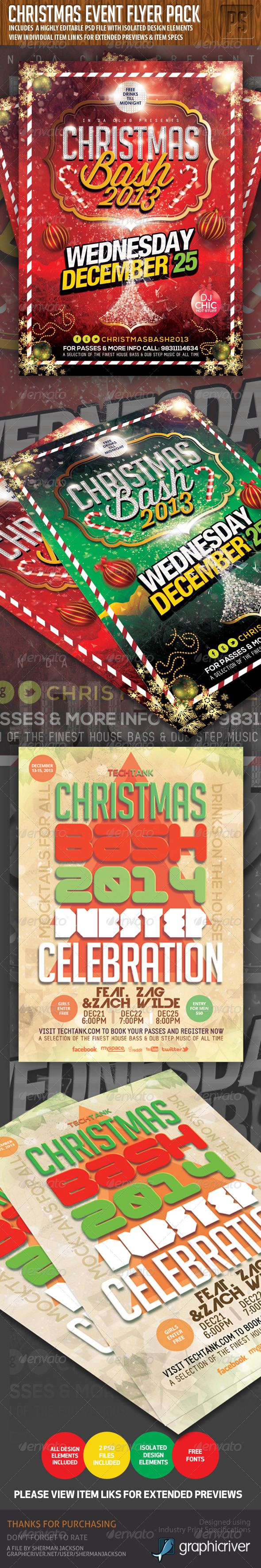 GraphicRiver Christmas Flyer Event Bundle 6335475