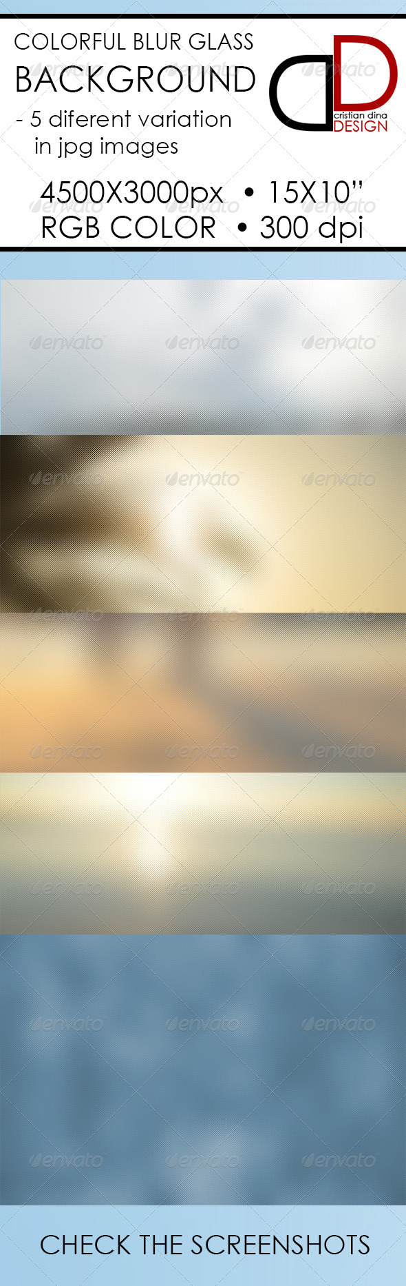 GraphicRiver Colorful Blur Glass Background 6335529